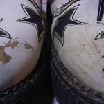白の革靴修復プロジェクト(その1)