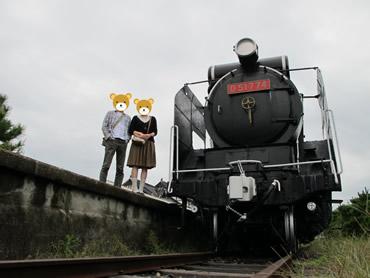 旧大社駅にて(G11をゴリラポッドにセットして撮影)
